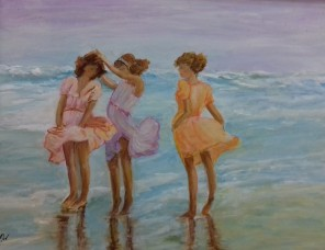 Girls on the Beach by Frances Izod